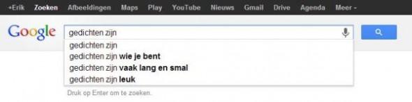 Gedicht uit Google - Erik van Rosmalen