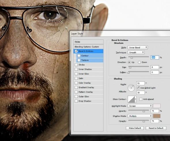 Screenshot layer styles