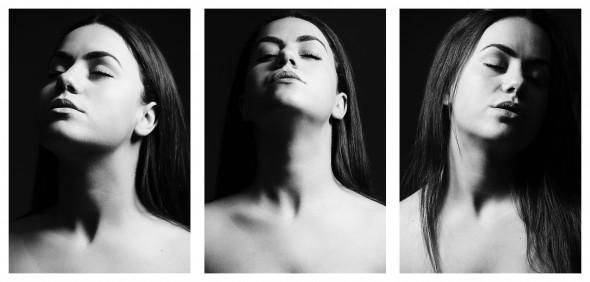 Drieluik in zwart-wit - Lisanne